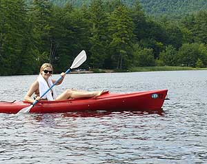 Kayaking at Purity Springs Resort in East Madison, New Hampshire