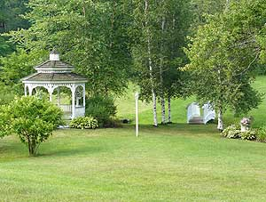 The grounds of the Rosewood Country Inn in Bradford, New Hampshire