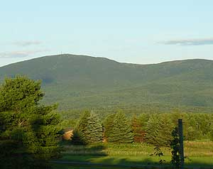View of Mount Sunapee from New London