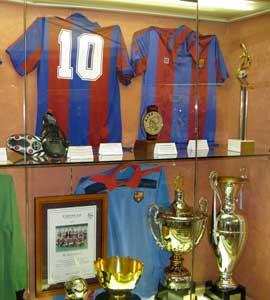 Diego Maradona's shirt at the FC Barcelona museum