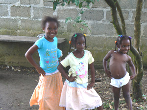 Kids in El Valle, Colombia. Nearly all of the people in this region are very dark skinned, descendants of African slaves.
