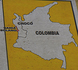 Choco province is on Colombia's Pacific and very sparsely populated coast.