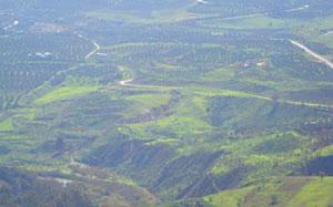 Jordan as seen from the Golan Heights