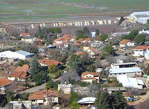 Metulah, Israel sits right on the border with Lebanon.