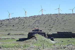 Windmills on the Syrian border