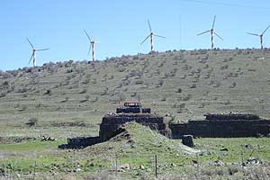 Windmills on the Syrian border