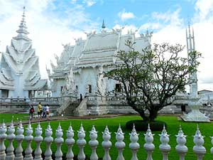 Another view of the white Temple