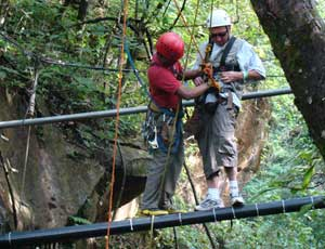The guides kept us safely clipped in – photo courtesy of Adventure Tours