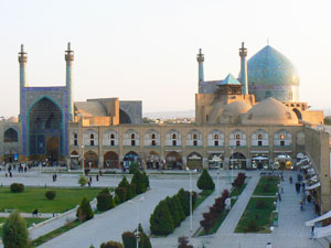 The mosque in Esfahan