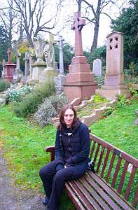 Kreig Photos shoot at Highgate Cemetery (Photo with permission from Ryan Fogarty)
