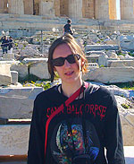 Stephanie Green at the Acropolic in Athens