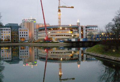 A crane in Stockholm
