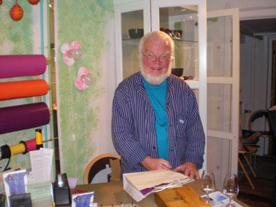Owe Johansson, a silversmith in Sweden