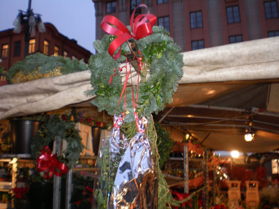 A Christmas wreath in Sweden