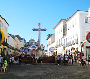 A square in Pelourinho