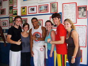 Happy and sweaty after a lesson with Mestre Bamba