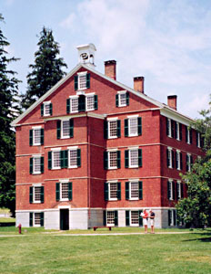 The Brick Residence Hall was designed and built by Shakers in the early 1800s, and today looks much as it did then.