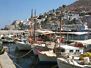 The harbor in Hydra