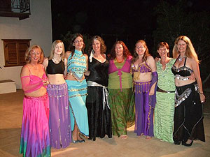 The belly dancing group at the Hydrama Arts Centre in Vlychos on the Greek island of Hydra - photos by Lorena Di Nola