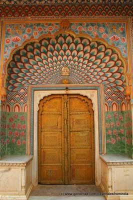 A peacock door at the City Palace