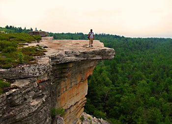 My husband Pinaki taking in the view from Gertrude's Nose - photos by Esha Samajpati