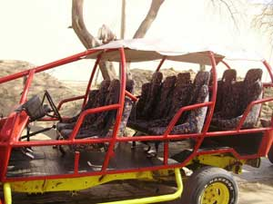 The best way to get in the most boarding is to take a dune buggy tour.