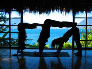 Yoga is one of the things you can do on a retreat.