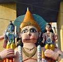 The Temple of Hanuman, a half monkey half human Hindu devotee of God