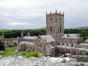 St. David's in Wales, one of Lewis's sacred sites