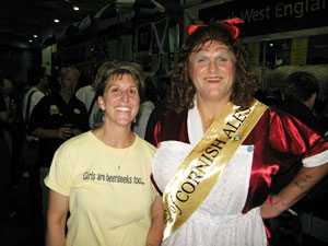 Merideth with Betty Stog at the Great British Beer Festival
