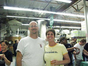 At Green Flash Brewery in San Marcos, California