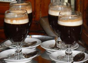 Bicerin ready to serve in Torino's Al Bicerin cafe.