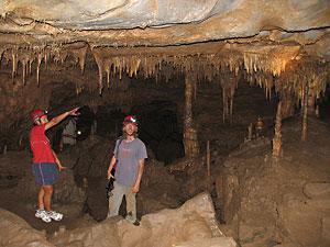 Exploring a large cavern - photo courtesy of Swartberg Adventures