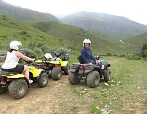A view during a quad biking tour near the Swartberg Mountains