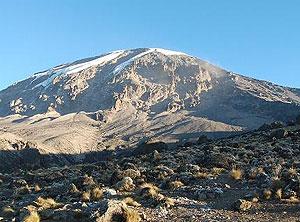 The summof Mt. Kilimanjaro from Karanga Camp - photos by Roman Skaskiw