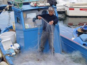A fisherman at Pozzuoli