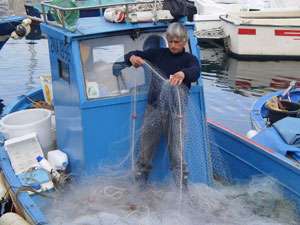 A fisherman at Pozzuoli