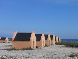 Slave huts in Bonaire.
