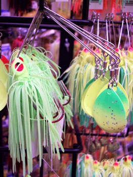 Colorful fishing lure for sale in Reeds