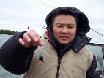 If you're going to go fishing on Leech Lake, then surely you must fish with a leech, right?