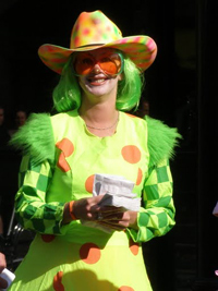 Clown at the Stampede.