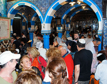 Controlled chaos at the El Ghriba Synagogue on the island of Djerba in Tunisia during the El Ghriba festival. Photos by Sonja Stark.