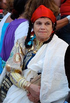 A Jewish pilgrim at the El Ghriba Festival