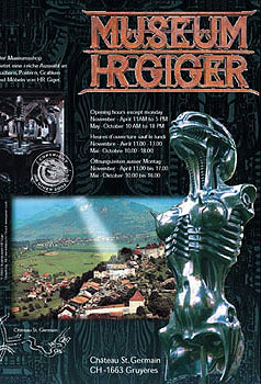 Flyer from the Giger Museum in Gruyeres