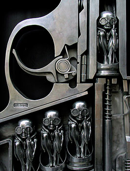The Birth Machine by H. R. Giger at the Giger Museum in Gruyeres, Switzerland. Photos by Gary Singh except as noted.