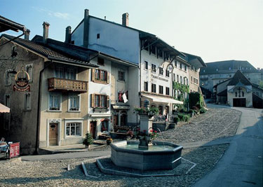 The Medieval village of Gruyeres, Switzerland