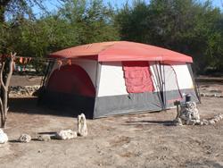 Tent camping at El Hurango, in Northern Chile.