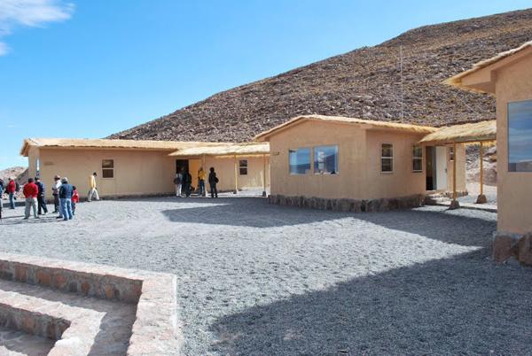 Mountain hut at Taypi Samanan Uta, Laguna de Huasco, near Pica, Chile.
