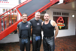 Rick Valentino and friends enjoy their vacation, the 'off-season' in Provincetown, Massachusetts
