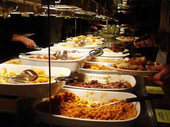 The bountiful buffet at the Hiltl Vegetarian Restaurant in Zurich, Switzerland